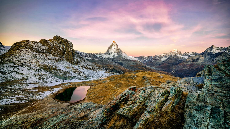 Riffellsee Matterhorn Sonnenaufgang