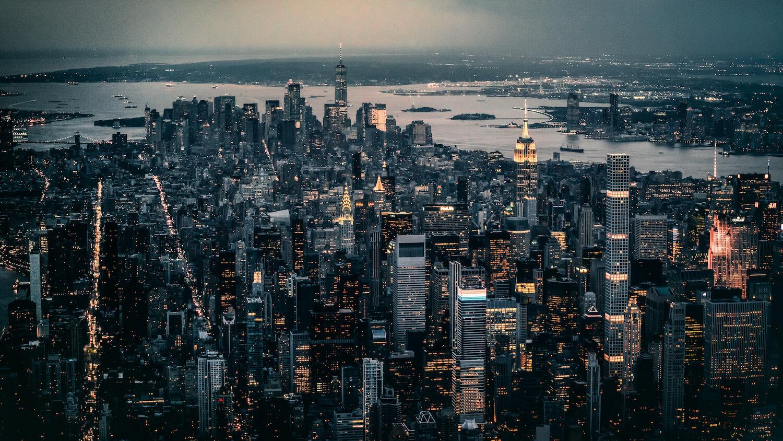 Hubschrauber Skyline New-York