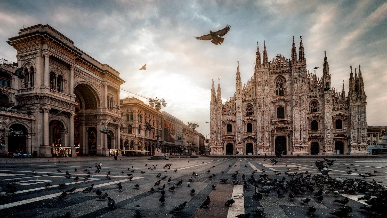 Piazza del duomo Mailand Sonnenaufgang