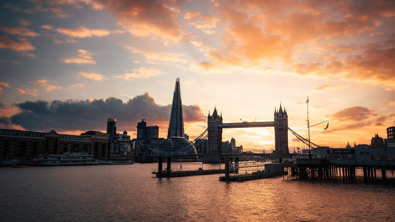 Skyline London Sonnenuntergang Tower Hill
