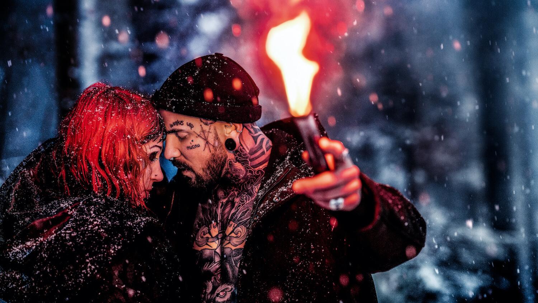 Paarbilder mit Diana und Micky Feuer und Eis in Appenzell