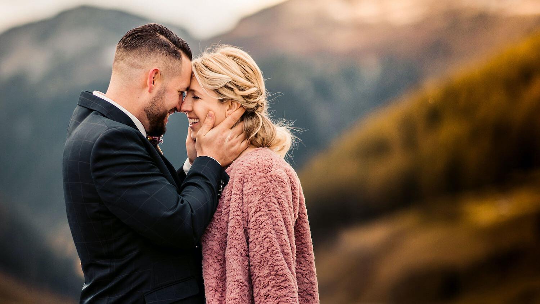 Hochzeitsfotograf in Davos mit Corinna und Patrick Flüelenpass