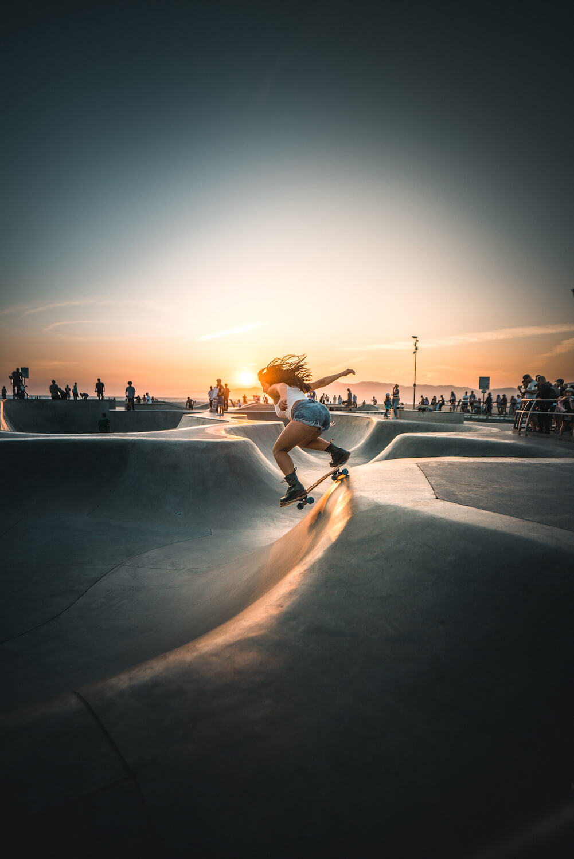 4one Foto-Shooting Fotografie Venice Calironia Skatepark Skateboard Frau