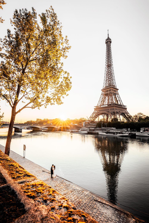 Partnershooting Paris Eifelturm Frankreich Hochzeit