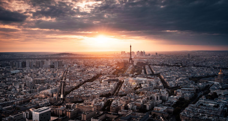 Paris Eifelturm Sunset