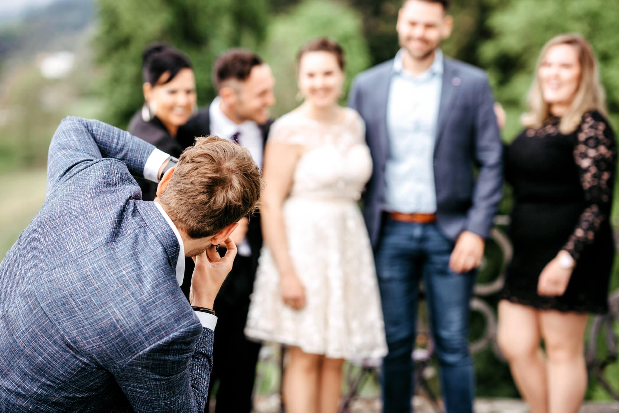 Gruppenfoto Fotograf Chris Widmer Hochzeits-Shooting im Rheintal St. Gallen